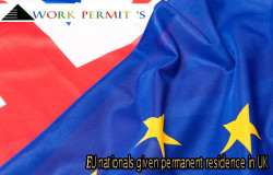 EU nationals given permanent residence in UK