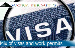 Mix of visas and work permits'